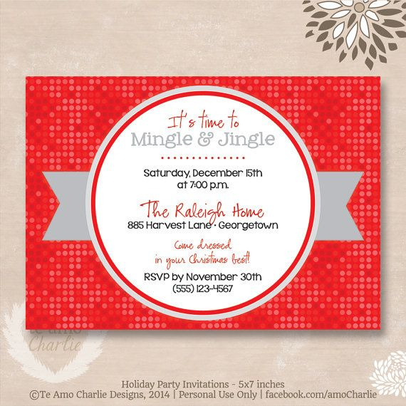 Its Time to Mingle Jingle Holiday Party Invitations Not exactly – Order Party Invitations