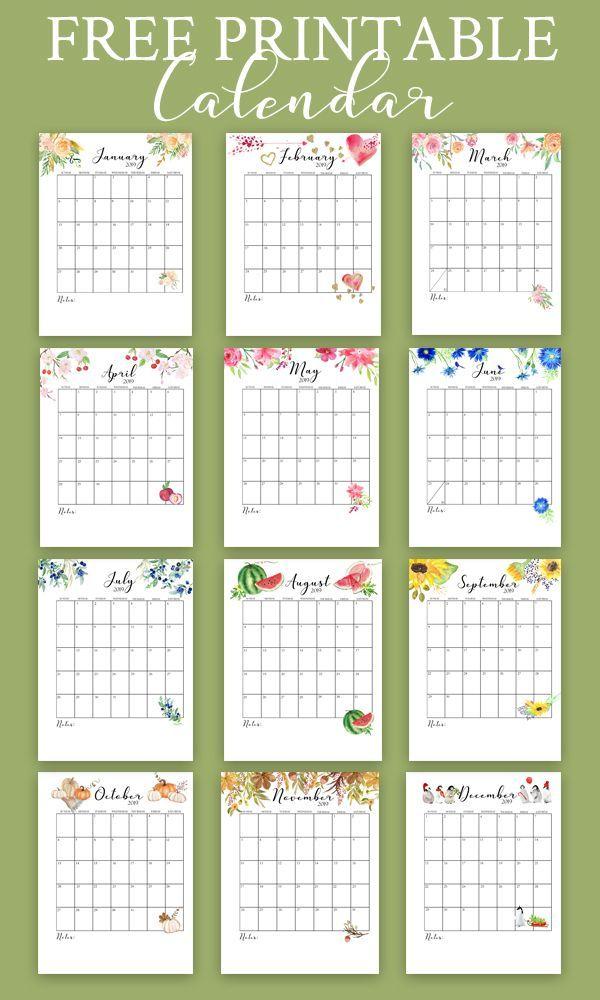 Free Printable Calendar 2019 (Monthly Calendar) Printables