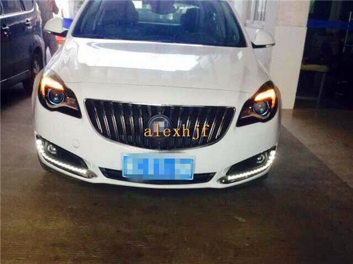 Yeats Led Daytime Running Lights Drl With Fog Lamp Cover Led Fog Lamp Case For Buick Regal Opel Insignia 2014 On 1 1 Rep Buick Regal Lamp Cover Running Lights