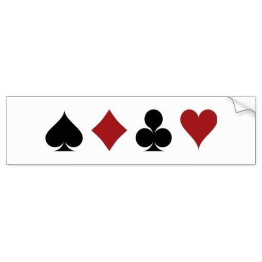 Símbolos del póker pegatina para auto