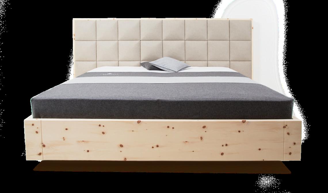 Freiraum Zirbenholz Bett Bett Innenarchitektur Wohnzimmer