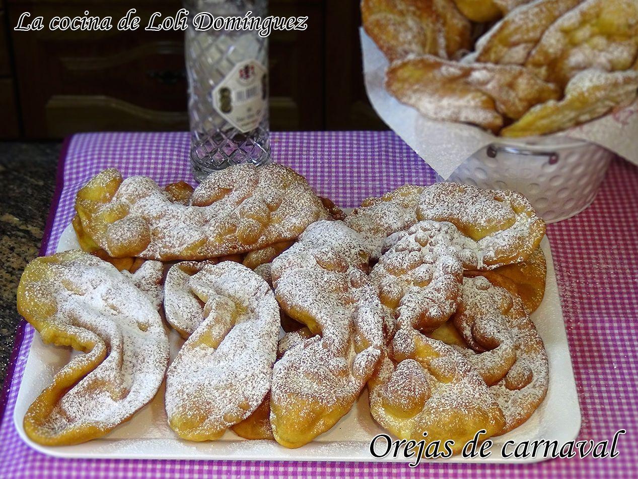 Orejas De Carnaval Receta Tradicional Orejas De Carnaval Recetas De Comida Recetas Tradicionales