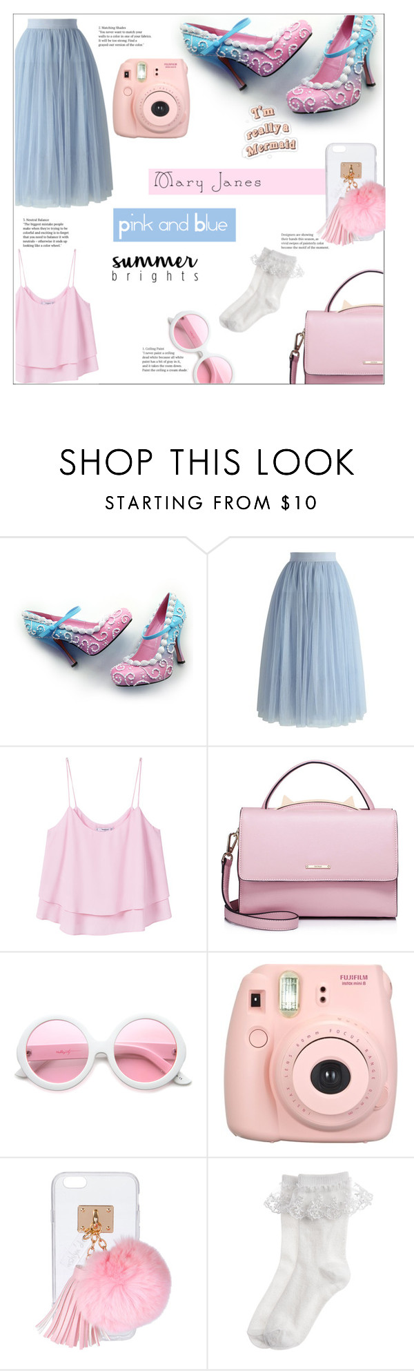 """How to:Mary Janes"" by iamasmallgiant ❤ liked on Polyvore featuring Chicwish, MANGO, WithChic, ZeroUV, Fujifilm, Ashlyn'd and Monsoon"