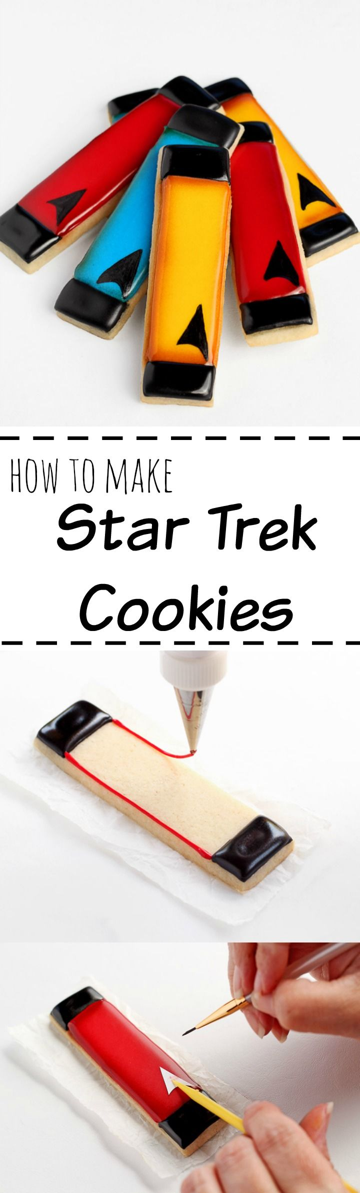 How to Make Simple Star Trek Cookies with Video