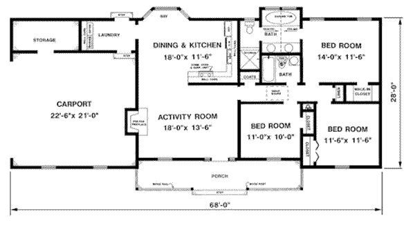 Great 1 Bedroom 2 Bath 1300 Sq Ft Farmhouse Plans   Google Search