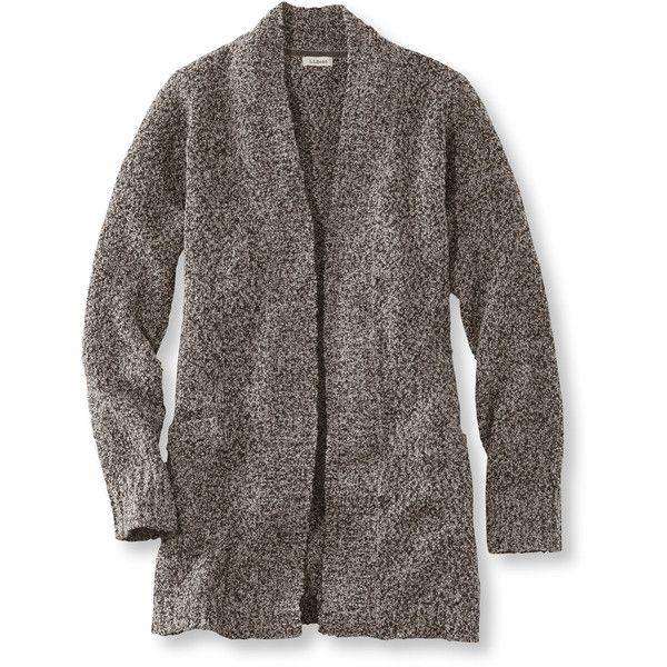 L.L.Bean Cozy Boucle Sweaters, Open Cardigan Misses Petite (105 ...