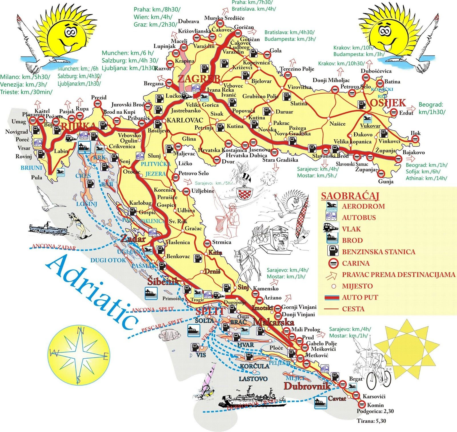 Image result for croatia tourist map Greek holiday Pinterest