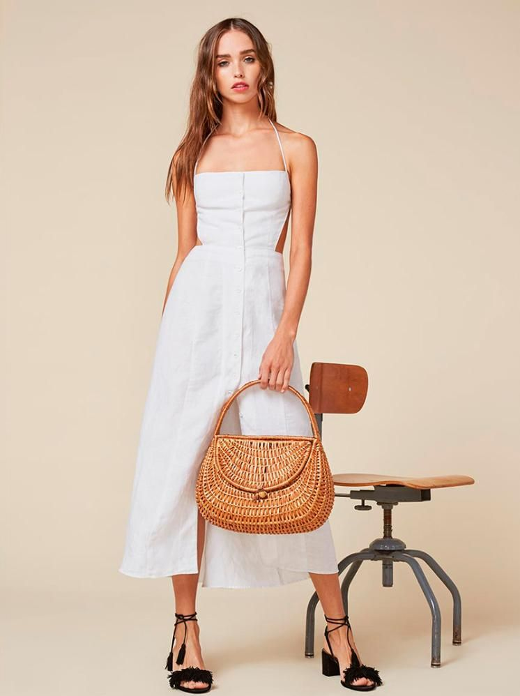 4f1543f042c Reformation Manon Dress as seen on Dakota Fanning
