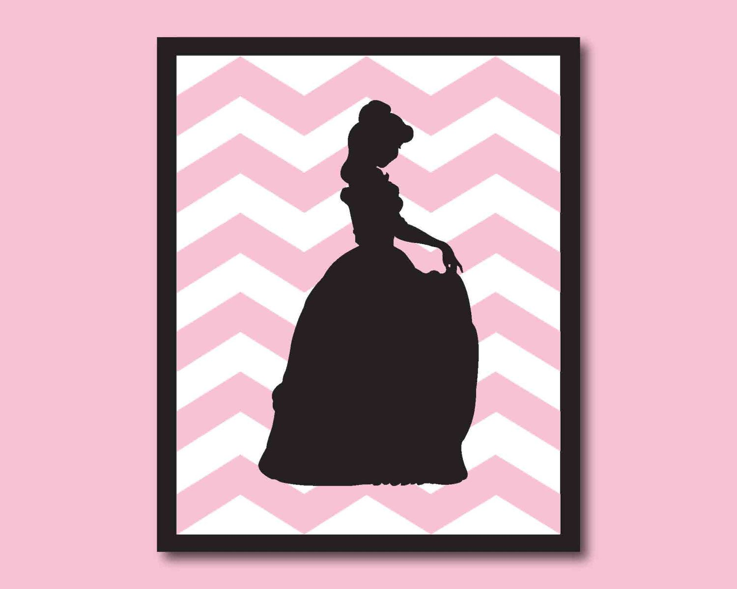 Beauty and the beast belles bedroom - Disney Princess Silhouette Belle From Beauty And The Beast Nursery Or Girls Bedroom Wall