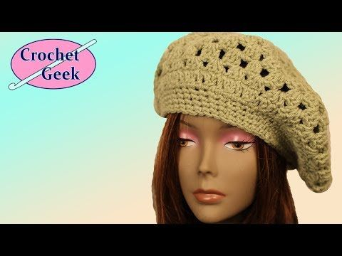 1 DE 3 COMO TEJER GORRO BOINA MEDIANA GANCHILLO CROCHET - YouTube ... 1a309e75016
