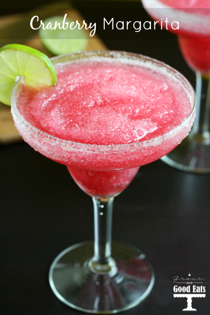 Frozen Cranberry Margaritas- easy and delicious!