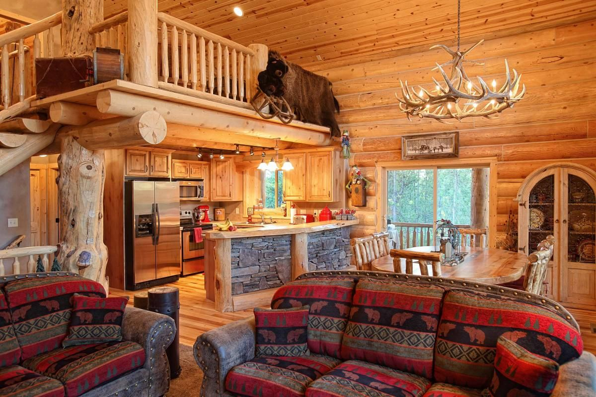 Log home interior ideas log home interiors  yellowstone log homes  my dream home