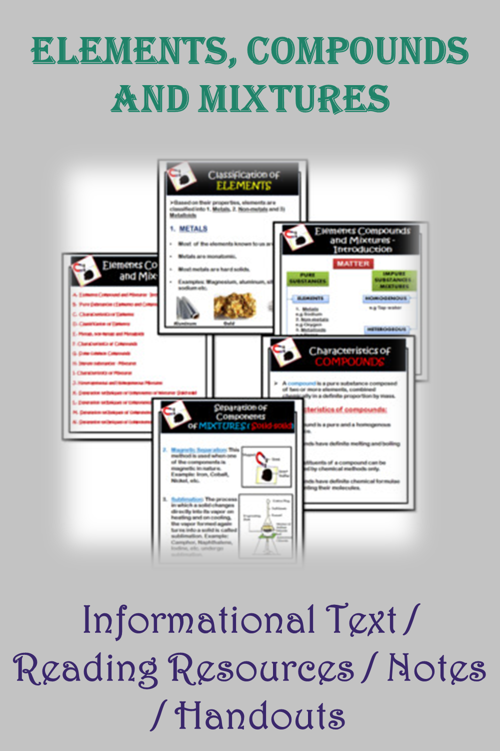 Elements Compounds And Mixtures Informational Text Reading Resources Notes Handouts In 2021 Compounds And Mixtures Reading Resources Informational Text [ 1500 x 1000 Pixel ]