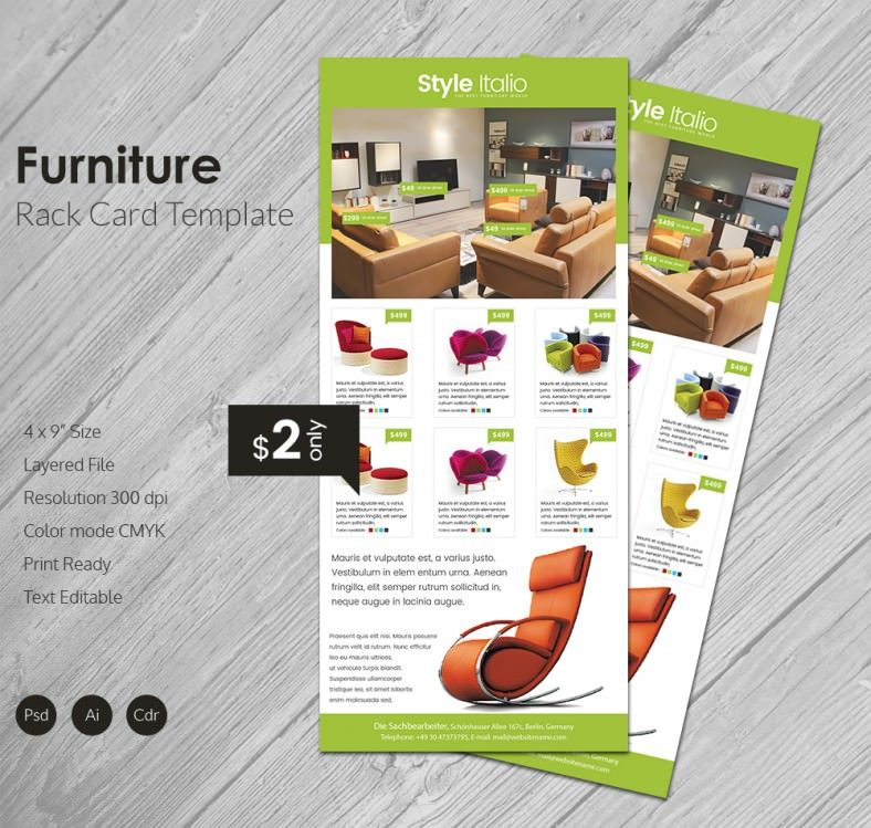 The Furniture Rack Card Is Specially Designed To Help You In A