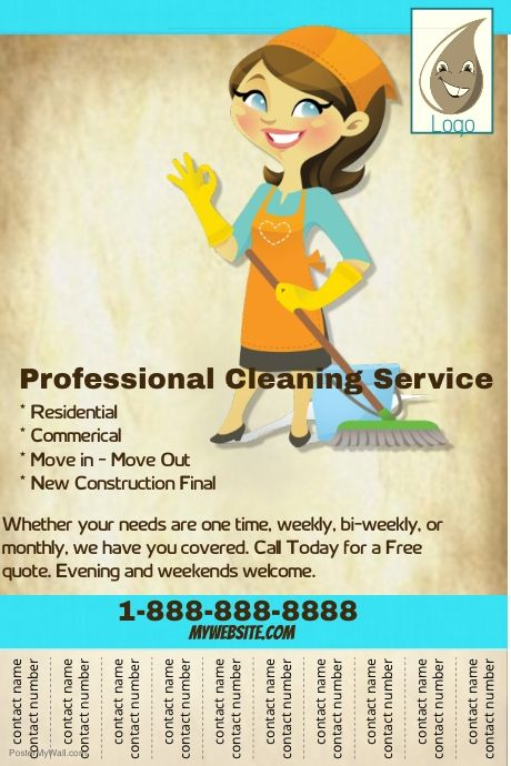 Create amazing flyers for your cleaning business by for Best place to buy posters in store