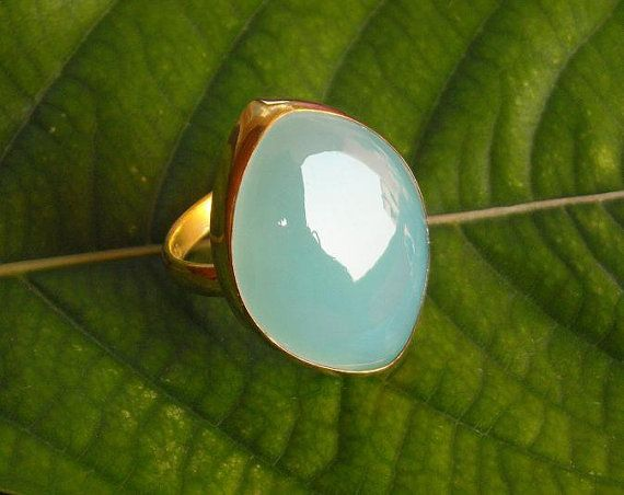 Marquise+ring+++Sea+foam+ring++Chalcedony+ring++by+Studio1980,+$69.00