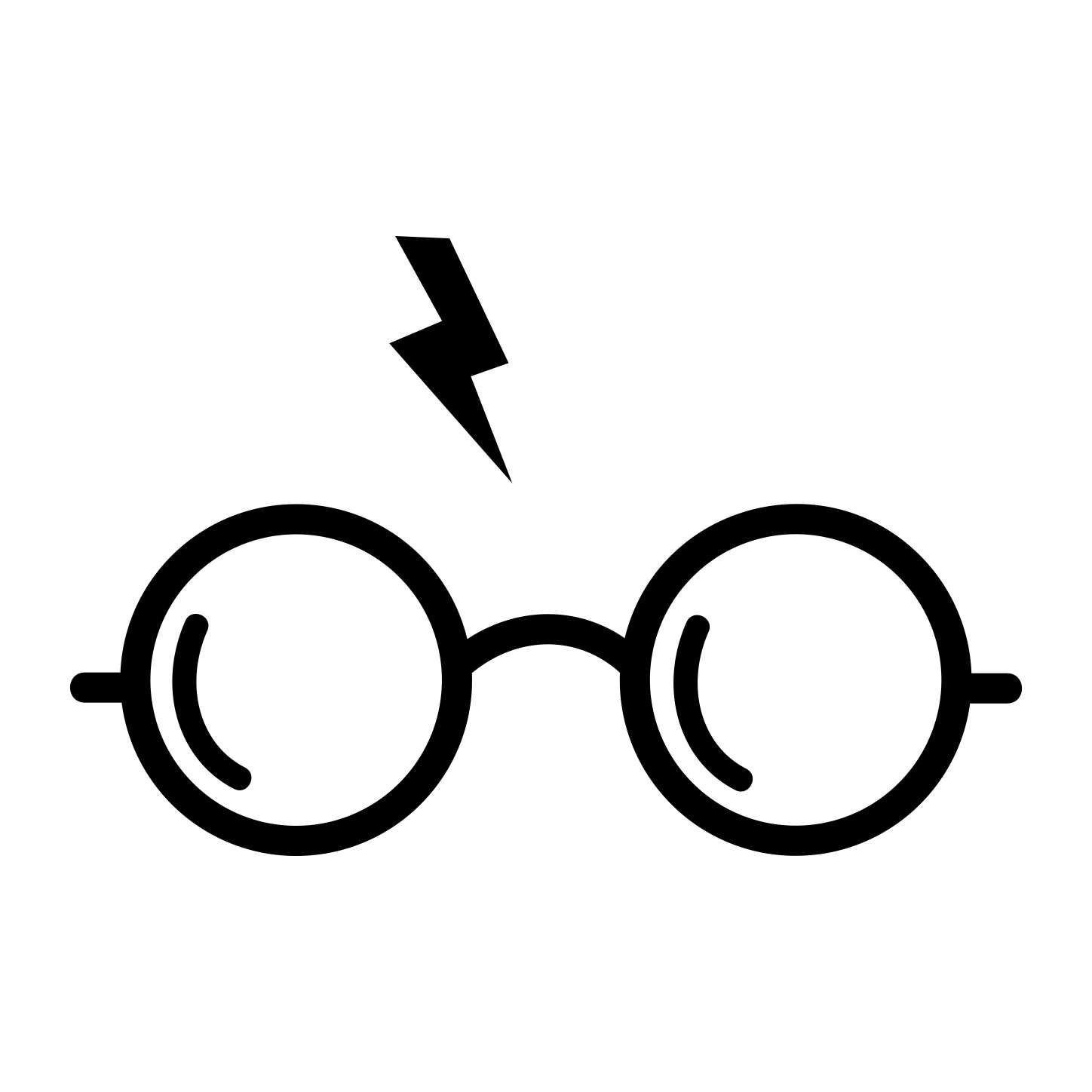harry potter glasses graphics svg dxf eps png cdr ai pdf vector art clipart instant download digital harry potter glasses harry potter decal harry potter logo harry potter glasses graphics svg dxf