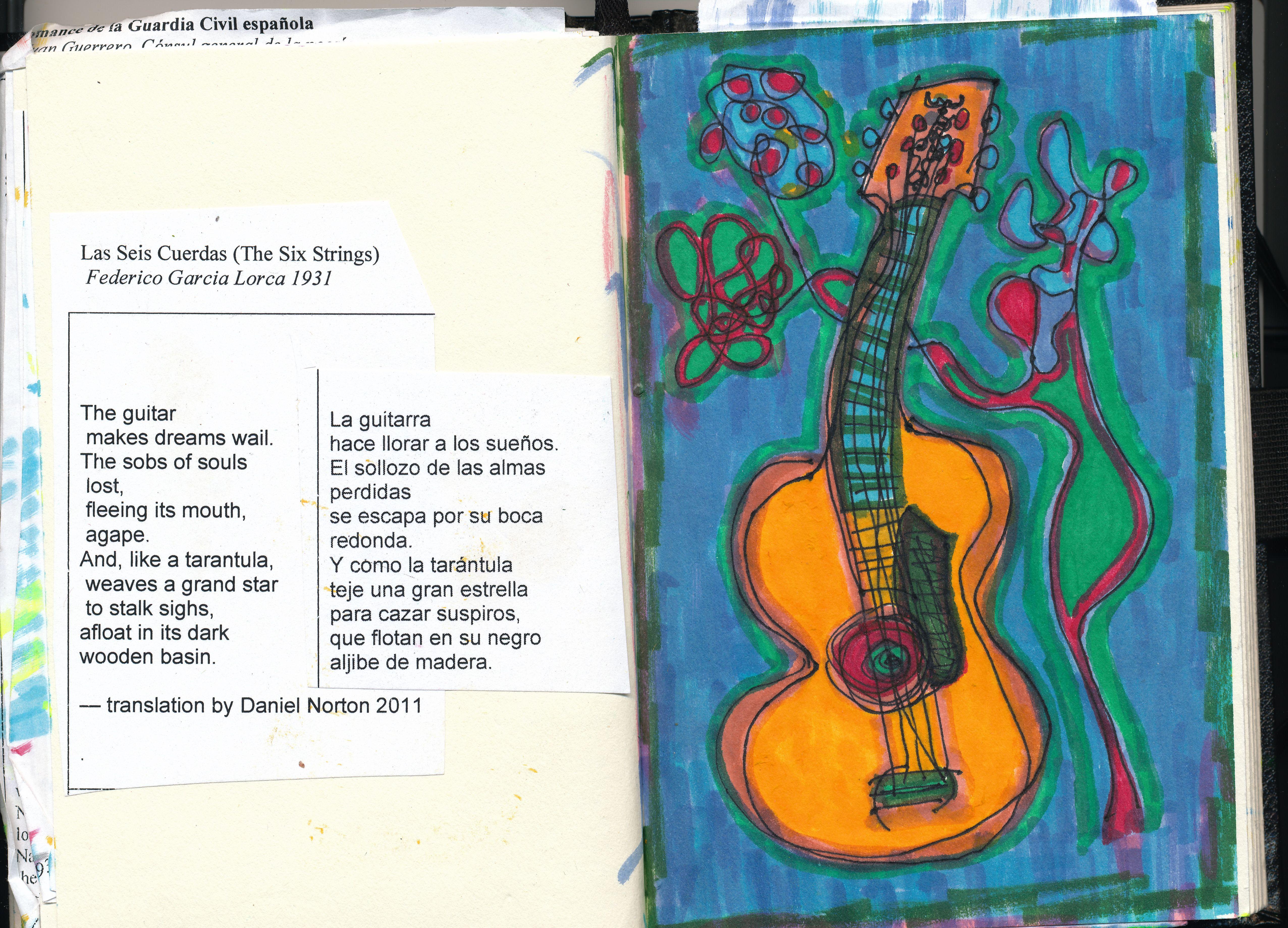 las seis cuerdas the six strings federico garcia lorca art