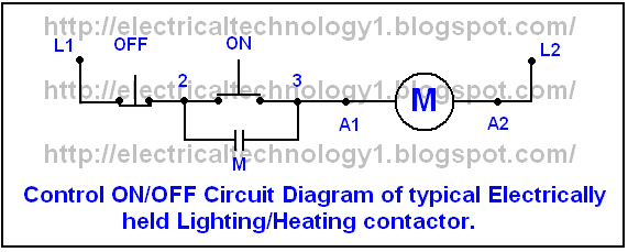 One Line Diagram Of Simple Contactor Circuit Circuit Line Diagram Circuit Diagram