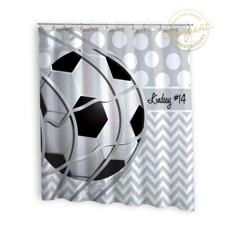 Soccer Shower Cutain