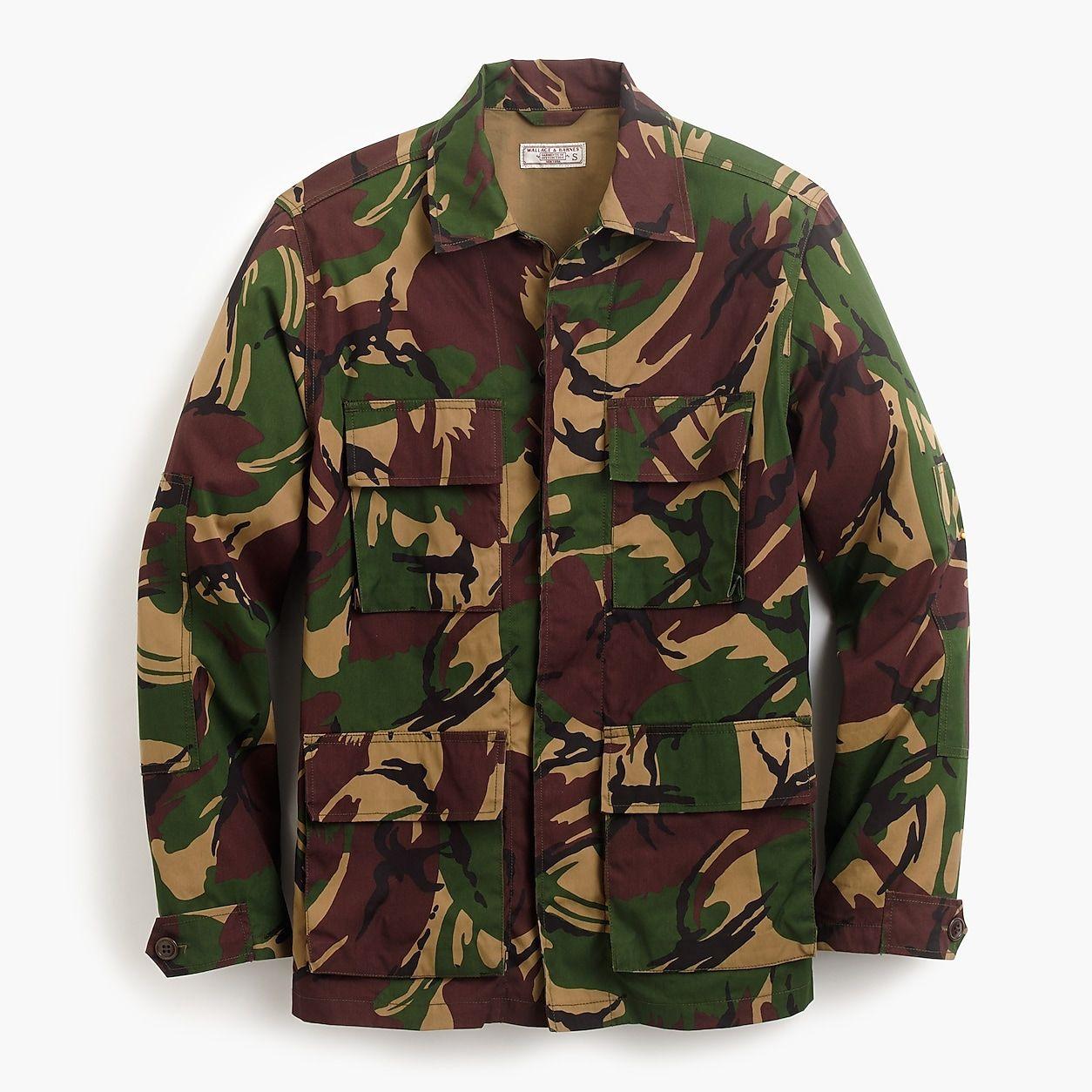 Wallace Barnes Lightweight Military Jacket In Camo Mens Military Style Jacket Military Jacket Military Field Jacket