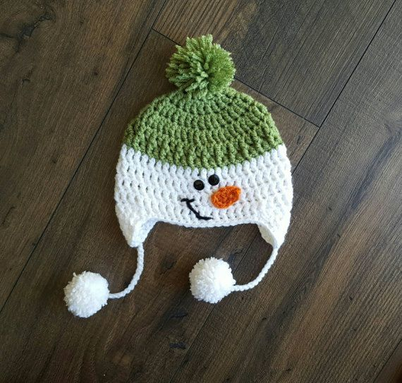 Baby Snowman Hat Crochet Snowman Hat Christmas Baby Hat Etsy Christmas Crochet Crochet Hats Christmas Crochet Patterns