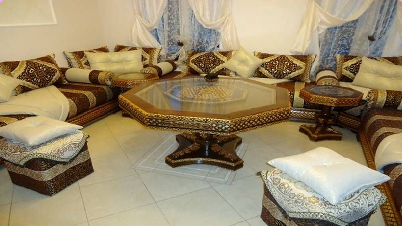 Vente de salon marocain  Moroccan Traditional Setting