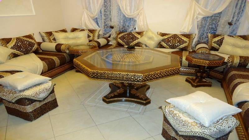 Salon en bois marocain | PARUR | Moroccan interiors, Salon design et ...