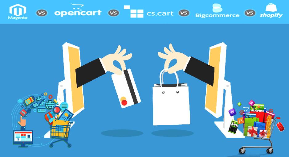 Magento Vs  Opencart Vs  CS-Cart Vs  Bigcommerce Vs  Shopify: Choose