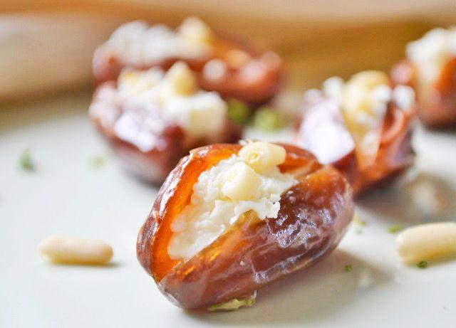Datteln mit Schafkäse Recipe Essen Pinterest Tapas, Snacks