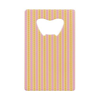 Gold  Lemon  Pink  Purple  Abstract Credit Card Bottle Opener - patterns pattern special unique design gift idea diy