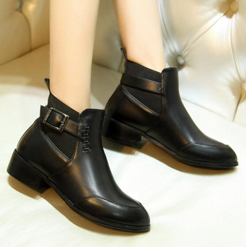 Cheap boot boot boot, Buy Quality boot sneakers directly from China boots  velvet Suppliers: new Autumn Boots Buckle Shoes Women Flats Heel women  boots Round ...
