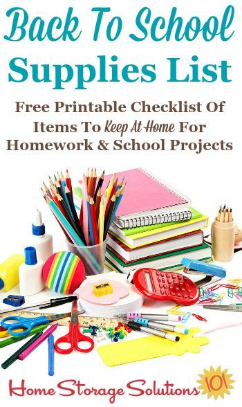 Printable Office Supply List Prepossessing Free Printable Back To School Supplies List What To Stock At Home .