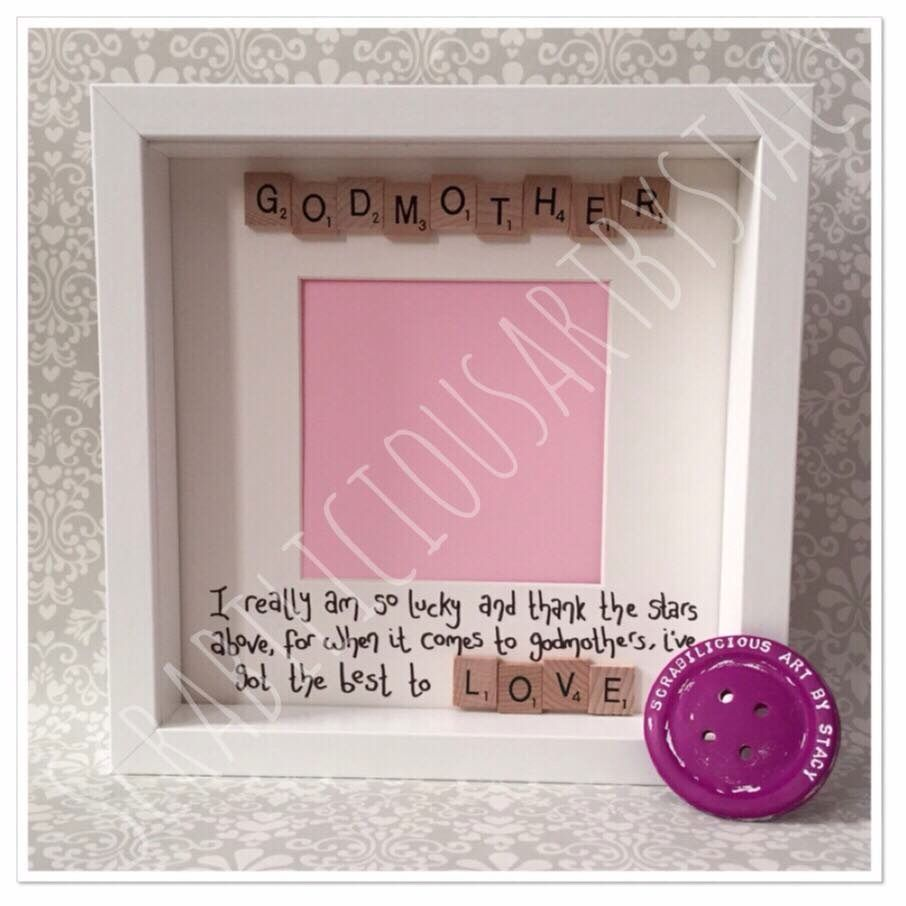 Godmother frame | DIY | Pinterest | Godmother gifts, Christening and ...