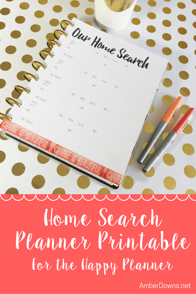 Happy Planner House Hunting Free Printable Happy Planner Planner Renovation Planner