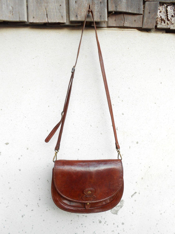 Vintage The Bridge 037721 Leather Messenger Bag By Vindico Duffle