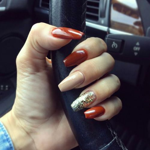 Best Fall Nails 2018 55 Best Fall Nails Fall Acrylic Nails Simple Fall Nails Cute Nails For Fall