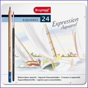 De set Bruynzeel Expression Aquarel met 24 aquarelpotloden én een penseel. Te koop via onze webshop! http://www.kleurboekvoorvolwassenen.nl/winkel/bruynzeel-expression-aquarel-kleurpotloden-24/