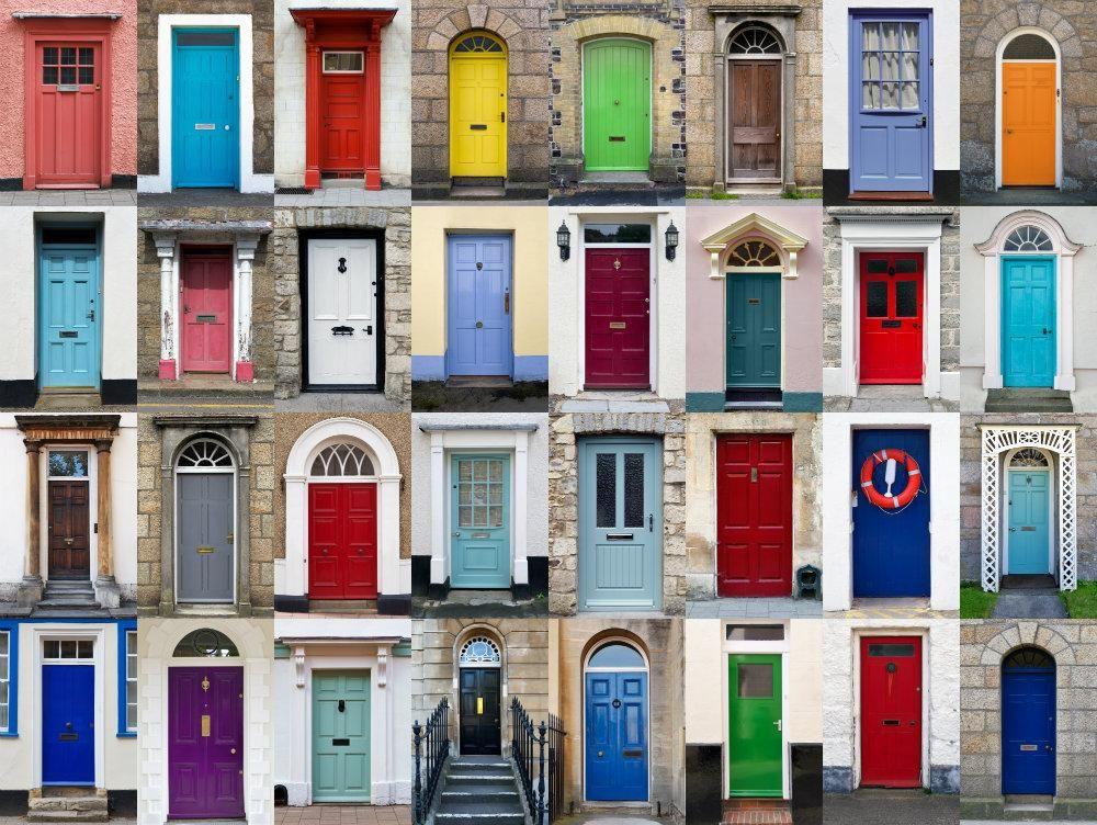 Projet DIY facile : un pop de couleur pour rafraîchir sa porte d ...