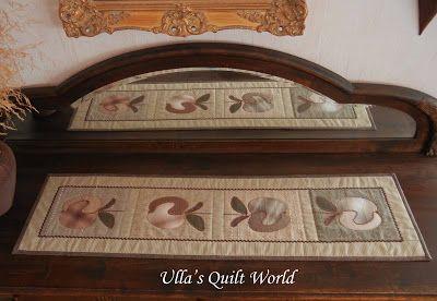 Ulla's Quilt World: Apple table runner quilt