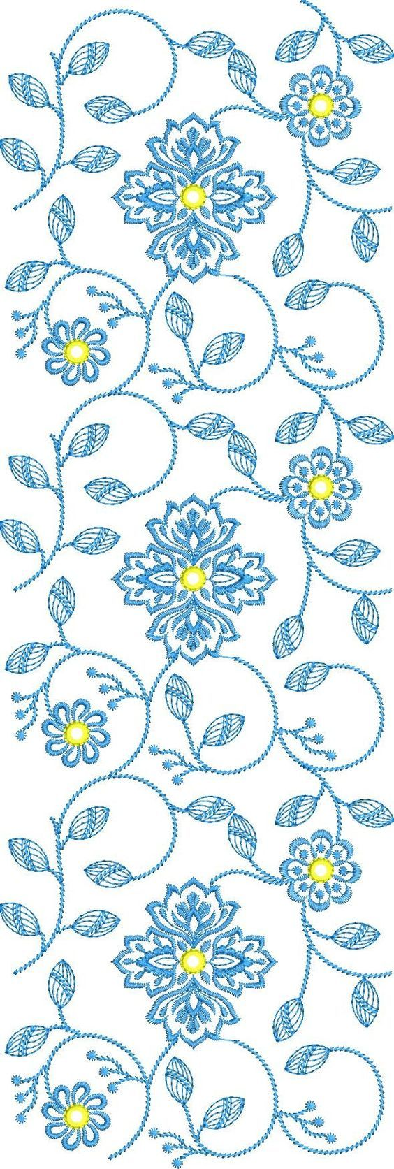 New all over free embroidery designs in machine embroidery