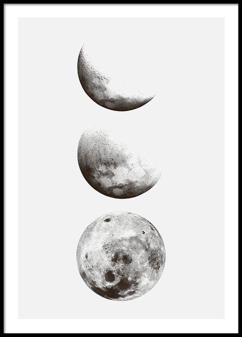 Photo of Schwarz-Weiß-Plakat mit Fotos vom Mond,  #blacktattoomoon #Fotos #mit #Mond #SchwarzweissPlak…
