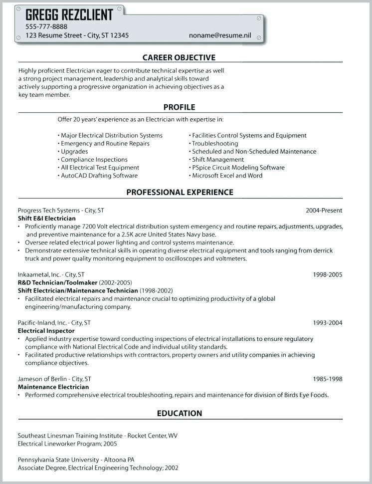 master electrician resume master electrician resume example ...