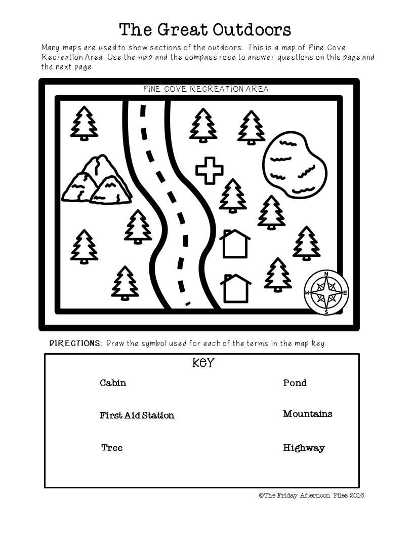 medium resolution of This engaging packet teaches the basics of beginning map skills. Symbols