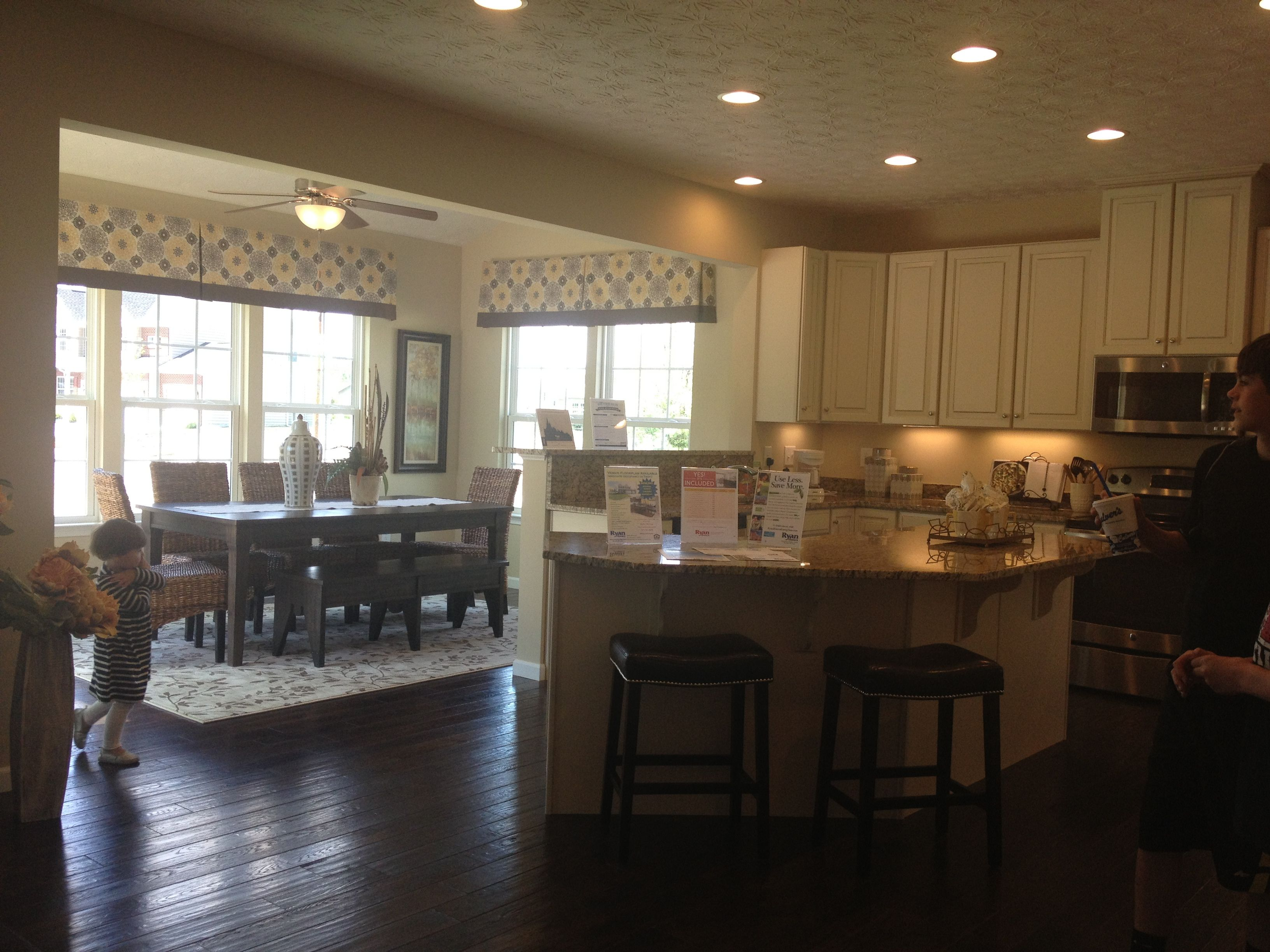 Ryan Homes Palmero Love The Kitchen Morning Room New House Ideas Pinterest Home The