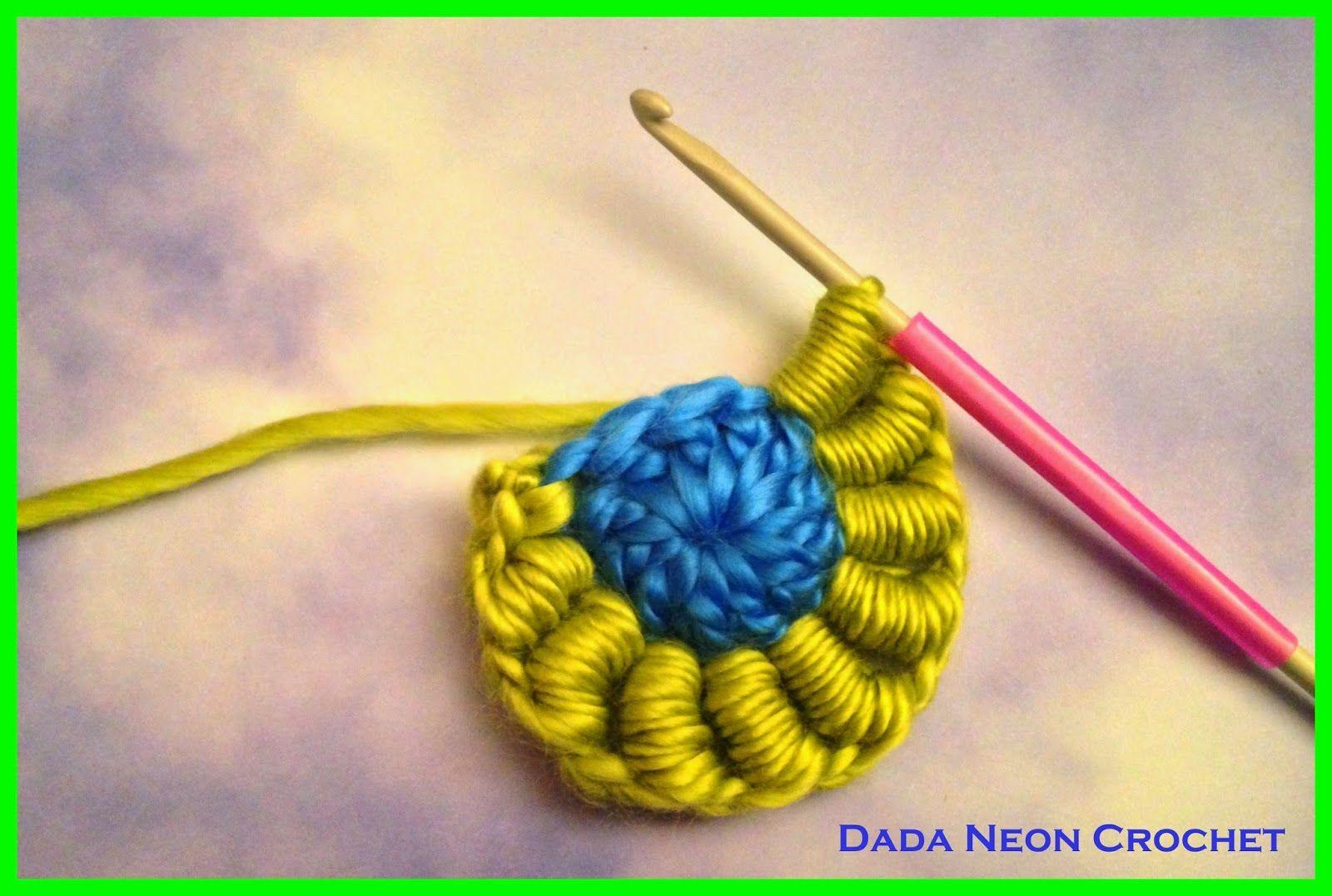 Dada Neon Crochet Bullion Stitch Tutorial My New Favourite