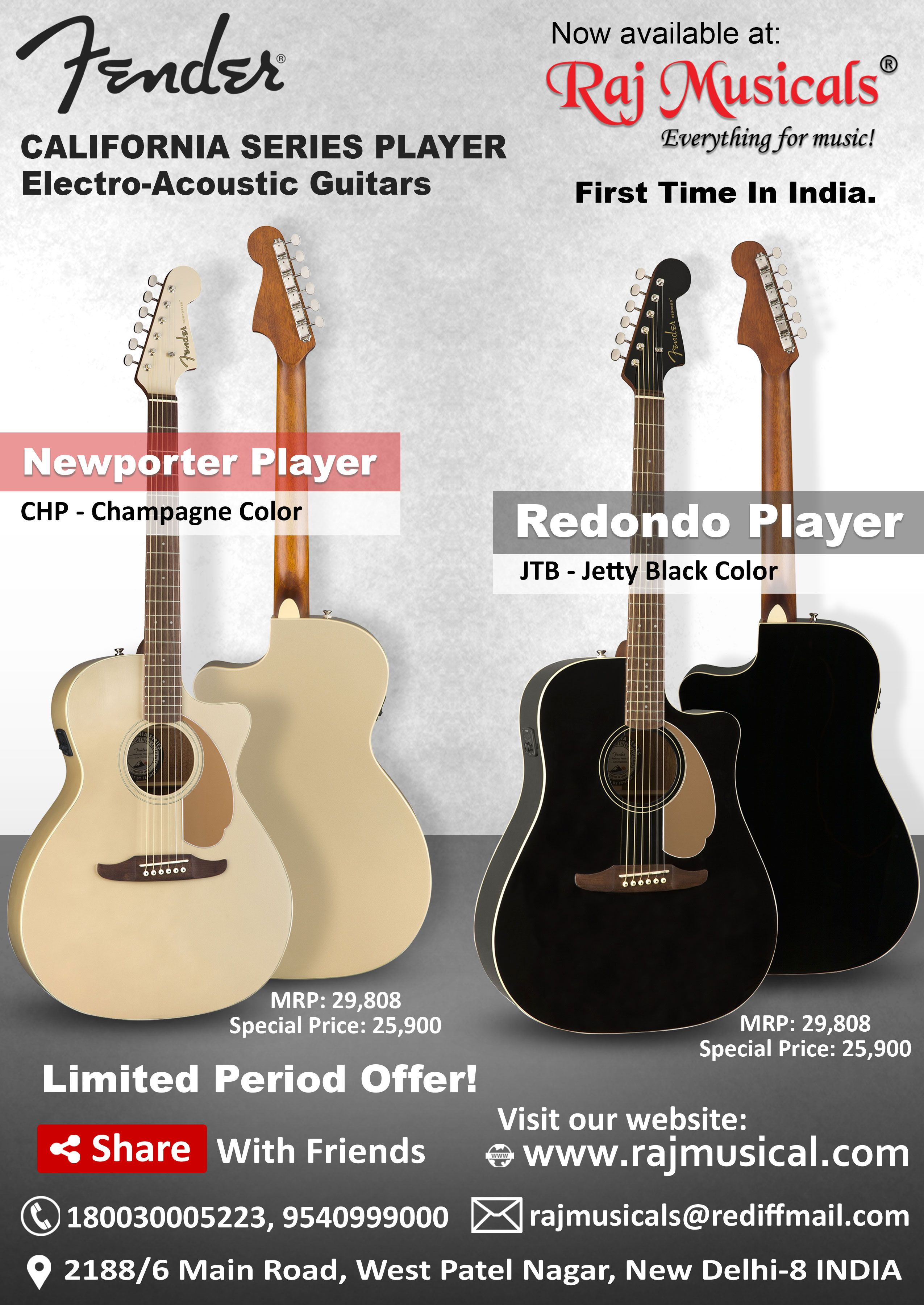 Fender Newporter Player Chp Electro Acoustic Guitar Electro Acoustic Guitar Guitar Acoustic Guitar