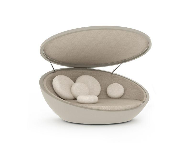 vondom daybed sonneninsel ulm mit sonnenblende kaufen im borono online shop muschel pinterest. Black Bedroom Furniture Sets. Home Design Ideas