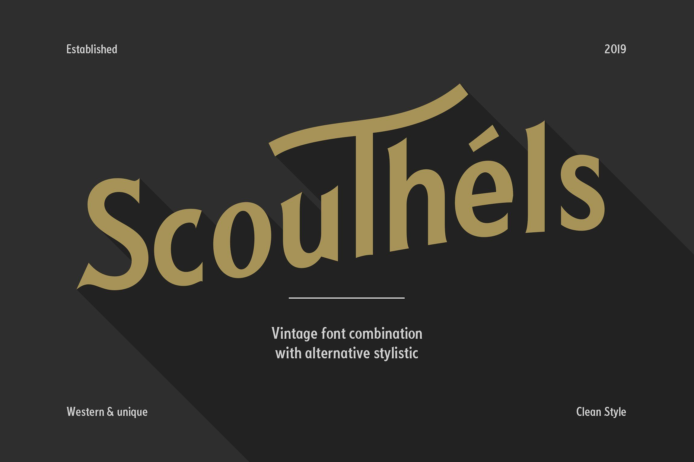 Scouthels Typeface - Clean Sans Font by Maulana Creative on