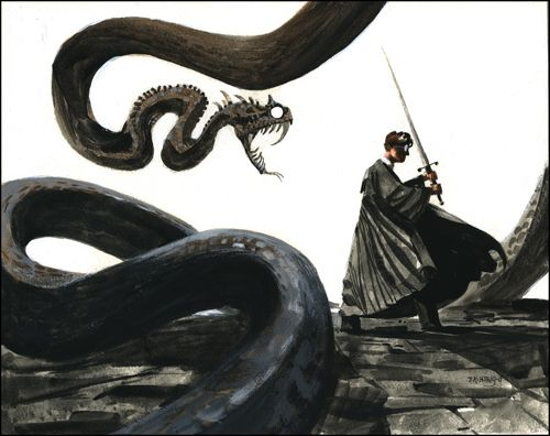 Harry VS the Basilisk, by Tang Heng | Harry Potter Madness
